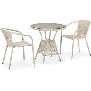 Комплект плетеной мебели из искусственного ротанга Afina garden T705ANT/Y137C-W85 2Pcs latte