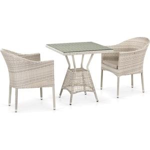 Комплект плетеной мебели из искусственного ротанга Afina garden T706/Y350-W85 2Pcs latte