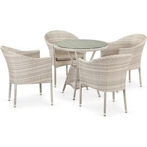 Комплект плетеной мебели из искусственного ротанга Afina garden T705ANT/Y350-W85 4Pcs latte 4pcs diamond solar powered led colorful garden light
