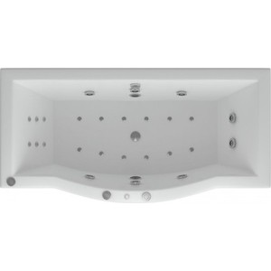 Акриловая ванна Акватек Гелиос 180х80/90 фронтальная панель, каркас, слив-перелив (GEL180-0000067)