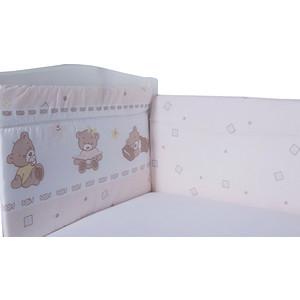 Бортик в кроватку BamBola мишка бязь 40*60-2 части 40*120-2 бежевый 108