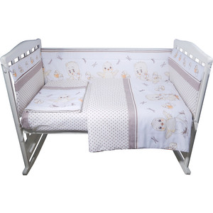 Комплект в кроватку BamBola 4пр цыплята бязь бежевый 404