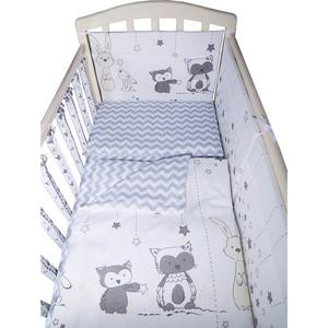 Комплект в кроватку BamBola 6пр лесные друзья 613