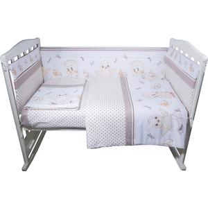 Комплект в кроватку BamBola 6пр цыплята бязь бежевый 604