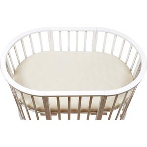 Матрас в овальную кроватку BamBola oval holo+kokos 8 125*75*8 микрофибра ohk-8