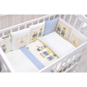 Комплект в кроватку GulSara бязь голубой 07 26