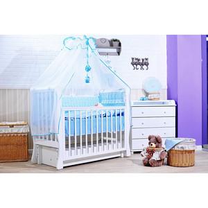 Комплект в кроватку GulSara 7 пр бязь голубой 47