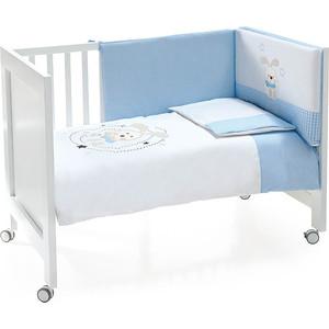 Комплект в кроватку INTER BABY 3 пред conejo espiral azul, голубой, 60х120 см 91076-r-01 комплект в кроватку mibb 3 пред lumiere b argento серебряный te465tb