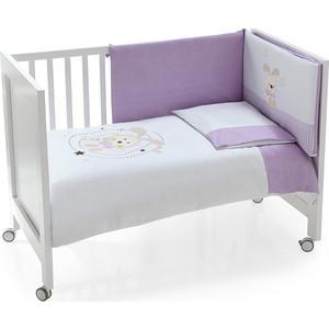 Комплект в кроватку INTER BABY 3 пред conejo espiral lila, лиловый, 60х120 см 91076-r-32