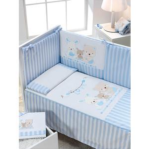 Комплект в кроватку INTER BABY 3 пред love azul, голубой, 60х120 см 91326-r-01