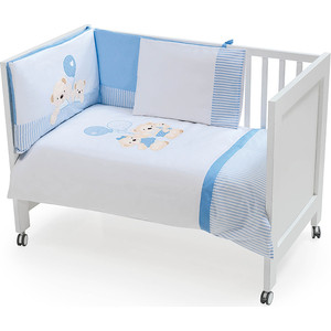 Комплект в кроватку INTER BABY 3 пред oso globo azul, голубой, 60х120 см 91176-r-01