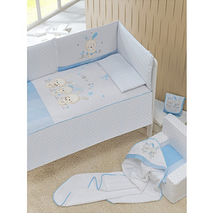 Комплект в кроватку INTER BABY 3 пред password azul, голубой, 60х120 см 91876-r-01