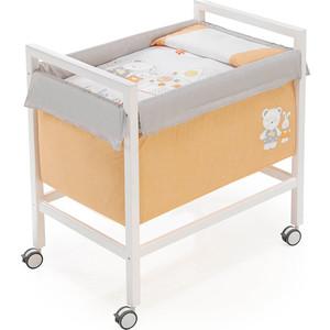 Кроватка + комплект в кроватку INTER BABY little house orange, 58*82*84 см 91112-06