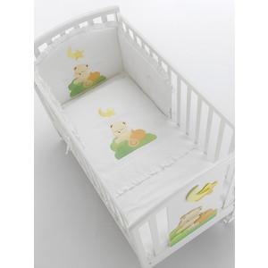 цены на Комплект в кроватку Mibb 3 пред babi mandarino оранжевый (рисунок) te555tm  в интернет-магазинах