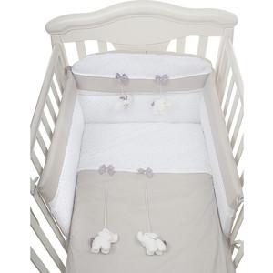 Комплект в кроватку PICCI miro 3 пред grey, серый d1236-22 цена