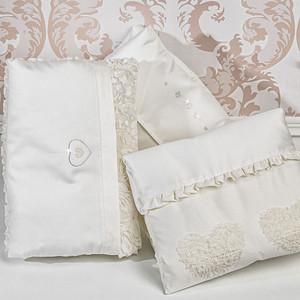 Одеяло для люльки PICCI luxary flora hearts сердечки, cream, кремовый i47s22-09