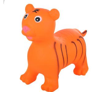 Прыгуны-животные Spring тигренок, pvc, с насосом, 60х30х50см, оранжевый 29