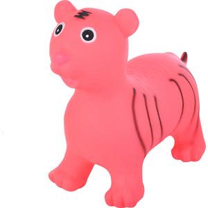 Прыгуны-животные Spring тигренок, pvc, с насосом, 60х30х50см, розовый 27