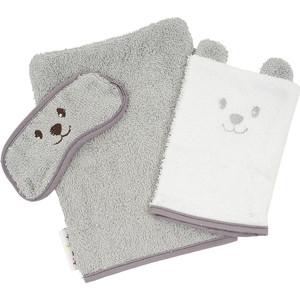 Комплект для ванной TINEO (руковички: мамы+для малыша+защита глаз) серый 644483