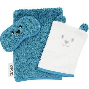 Комплект для ванной TINEO (руковички: мамы+для малыша+защита глаз) синий 644484