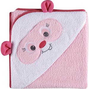 Полотенце TINEO белый с розовым 80*80 cm 184482