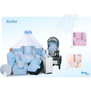 Комплект постельного белья Tuttolina 3 пред rabbit 3hd/84 розовый 3hd/84 рассказ 84