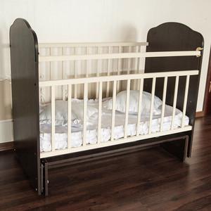 Кроватка Агат кровать детская золушка-10 (поперечный маятник) шоколад+слоновая кость 52107