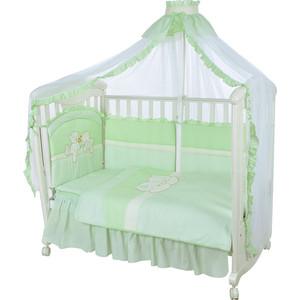 Комплект в кроватку Золотой гусь 8 пр лапушки зеленый 1614