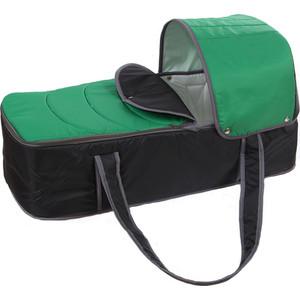Люлька-переноска для коляски Карапуз серо-зеленая 0199/4640002290199