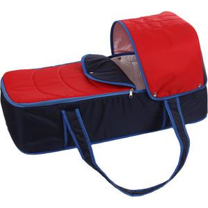 Люлька-переноска для коляски Карапуз сине-красная 0236/4640002290236