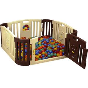 цена на Детское ограждение манеж Edu Play корич /жел (без шаров) (116x116x60h) gp-8011b