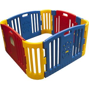 цена на Детское ограждение манеж Edu Play крас /жел (без шаров) (116x116x60h) gp-8011r
