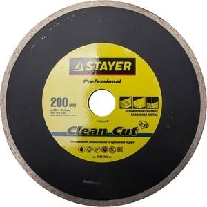 Диск алмазный Stayer Professional 25,4х200 мм (3665-200 z01) ручной зажим stayer pro fix 250х35мм 22470 z01