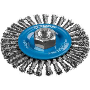 Щетка дисковая Зубр Профессионал 100 мм х М14 (35192-100 z02)