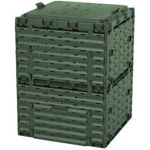 Компостер садовый Piteco 300л с крышкой K2130 зеленый биотуалет piteco 400 отзывы