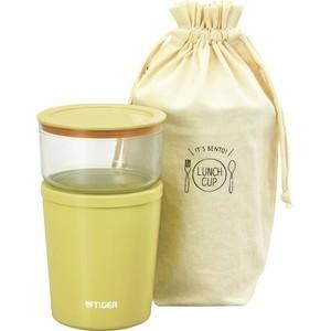 Термос Tiger для еды с контейнерами LCC-A030 Yellow термос для еды с контейнерами tiger lwu a171 charcoal gray 0 61л 0 34л 0 27л палочки для еды в чехле регулируемый наплечный ремень