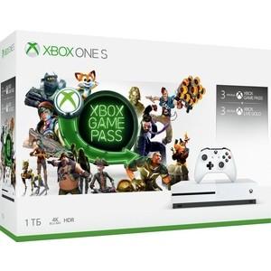 Игровая приставка Microsoft XBox One S 1Tb + подписки Xbox Game Pass на 3мес. + Xbox Live Gold на 3мес. (234-00357) цены