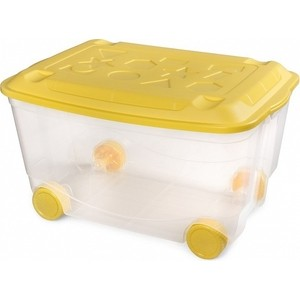 Ящик для игрушек Бытпласт на колесах 580х390х335 мм (бесцветный) (431306201)