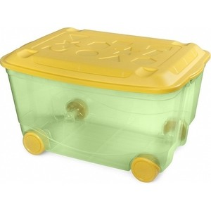 Ящик для игрушек Бытпласт на колесах 580х390х335 мм (зеленый) (431306209)