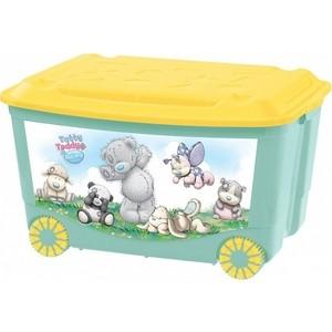 Ящик для игрушек Бытпласт на колесах с аппликацией me to you 580х390х335 мм (зеленый) (431304109) набор для волос me to you мишка