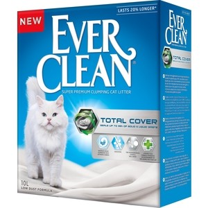 Наполнитель Ever Clean Total Cover с микрогранулами двойного действия комкующийся для кошек 10л