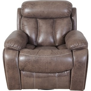 Кресло/реклайнер механическое Экодизайн Азалия, нубук дублин 588-2, с качением, вращением, стопором