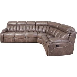 Угловой диван Экодизайн Азалия, нубук дублин 588-2, правый диван кровать смк дублин 136 3ек 194 сер