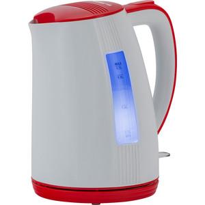 Чайник электрический Polaris PWK 1790CL, белый-красный все цены
