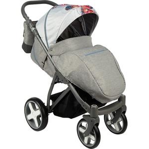 Коляска прогулочная BEXA iX (св.серый+принт) GL000733993 коляска rudis solo 2 в 1 графит красный принт gl000401681 492579