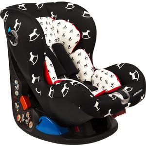 Автокресло Leader Kids CORVET цвет черный / белый / лошадки 0-1 гр. 0-18 кг GL000218966