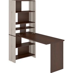 Стол компьютерный МЭРДЭС СТЛ-ОВХ+С120Прям без тумбы КВ стол компьютерный мэрдэс стл овх с120рпрям бен