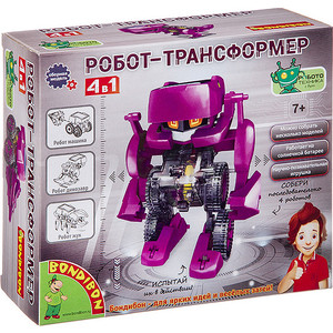 Набор для опытов Bondibon Робот трансформер 4 в 1 (ВВ3060)