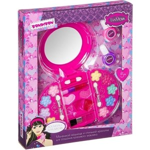 цена на Набор детской декоративной косметики Bondibon Eva Moda Лак для ногтей 2 оттенка (10г) (ВВ2261)
