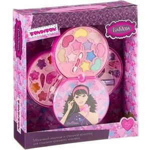 цена на Набор детской декоративной косметики Bondibon Eva Moda Косметичка-диск, 3х-уровневая (ВВ2273)